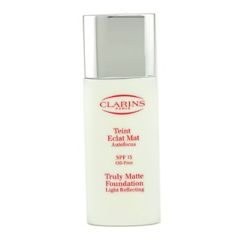 Clarins-Truly Matte Foundation Light Reflecting SPF15 - # 18.5 Cocoa