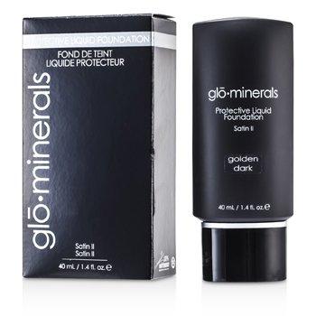 GloMinerals GloProtective Oil Free Liquid Foundation Satin Finish - Golden Dark  40ml/1.4oz