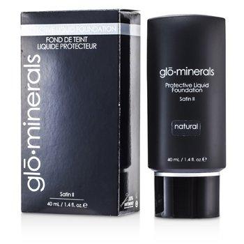 GloMinerals-GloProtective Oil Free Liquid Foundation Satin Finish - Natural