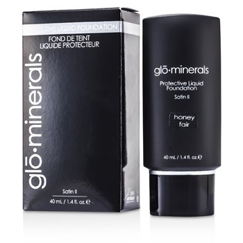 GloMinerals-GloProtective Oil Free Liquid Foundation Satin Finish - Honey Fair