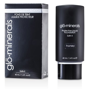 GloMinerals-GloProtective Oil Free Liquid Foundation Satin Finish - Honey