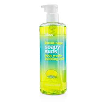 BlissLemon + Sage Soapy Suds (Body Wash + Bubbling Bath) 473.2ml/16oz