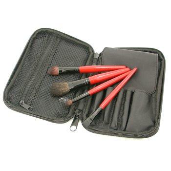 Smashbox-Traveler Brush Kit : Blush Brush + Shadow Brush + Cream Eye Liner Brush + Contour Brush + Bag