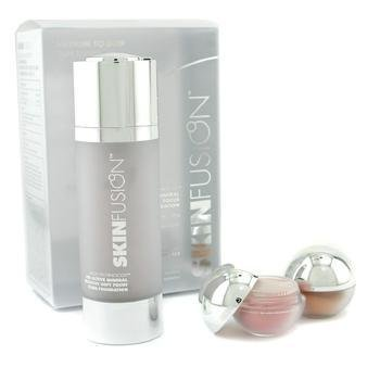 Fusion Beauty-SkinFusion Kit - Medium/ Dark Skin Tones ( 1x Fluid Foundation 30ml + 2x Brightening Mineral 0.85g )