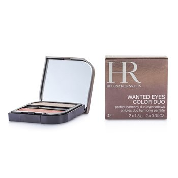 Helena Rubinstein Wanted Eyes Color Duo - No. 42 Ash Grey & Volcanic Copper  2x1.3g