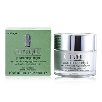 CliniqueYouth Surge Night Age Decelerating Hidratante Noche - Piel Seca Muy Seca 50ml/1.7oz