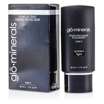 GloMinerals-GloProtective Oil Free Liquid Foundation Satin Finish - Golden Light