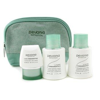 Pevonia BotanicaYour Skincare Solution Combination Skin Set: Cleanser 50ml + Lotion 50ml + Cream 20ml + Bag 3pcs+1bag