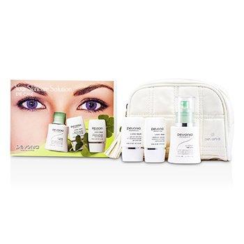 Pevonia BotanicaYour Skincare Solution Eye Care Holiday Set: Make Up remover 50ml + Eye Gel 15ml + Eye Cream 15ml + Bag 3pcs+1bag