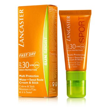 LancasterSun Sport Multi-Protection Water & Sweat Resist Cream & Stick SPF 30 20ml/0.67oz
