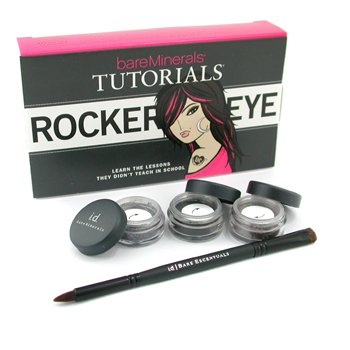 Bare EscentualsBareMinerals Rocker Eye Tutorials: 2x Eye Color 0.28g + Liner Shadow 0.28g + Double-Ended Rock