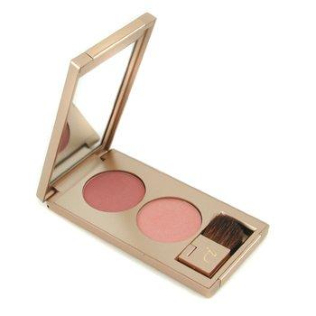 Jane Iredale-Twice Blushed 1 Cheek Colour Kit ( 2x PurePressed Blush 2.8g + Application Brush )