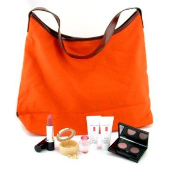 Elizabeth Arden-Travel Set: Perfume 5ml + Day Cream 15g + Hand Cream 15ml + Eye Capsules 7pcs + Lipstick + Eye Shadow + Bag