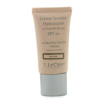 T. LeClerc-Hydrating Tinted Cream SPF 20 - # 01 Clair