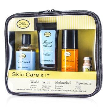 The Art Of Shaving Skincare Kit (For Sensitive Skin): Facial Wash + Facial Scrub + Moisturizer + After Shave Mask  4pcs