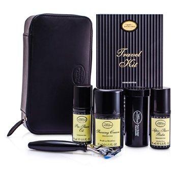 The Art Of Shaving Set de Viaje ( Inoloro): Maquinilla + 4 Cuchillas + Aceite Pre-Afeitado + Crema Afeitado +B�lsamo A/S + Neceser  5pcs+1case