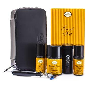 The Art Of Shaving Set de Viaje ( Lim�n ): Maquinilla + 4 Cuchillas + Aceite Pre-Afeitado + Crema Afeitado +B�lsamo A/S + Neceser  5pcs+1case