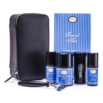 The Art Of Shaving Set de Viaje ( Lavanda ): Maquinilla + 4 Cuchillas + Aceite Pre-Afeitado + Crema Afeitado +B�lsamo A/S + Neceser  5pcs+1case