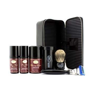 The Art Of ShavingSet de Viaje ( S�ndalo ): Maquinilla + 4 Cuchillas + Aceite Pre-Afeitado + Crema Afeitado +B�lsamo A/S + Neceser 5pcs+1case