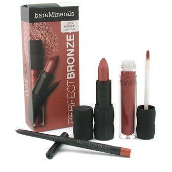 Bare Escentuals-BareMinerals 100% Natural Lip Trio ( Lipliner + Lipcolor + Lipgloss ) - Perfect Bronze