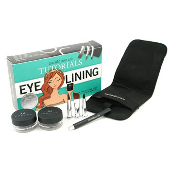 Bare Escentuals-BareMinerals Eye Lining Tutorials: 2x Liner Shadow + 3x Magbetic Liner Brush + 1x Brush Pouch