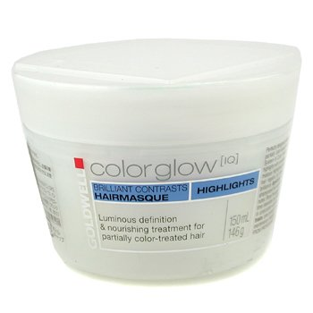 Goldwell Color Glow IQ Highlights Brilliant Contrasts Hair Masque ( Cabelos coloridos)  150ml/5oz