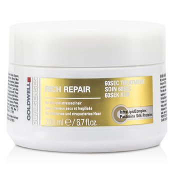 Goldwell Dual Senses Rich Repair 60 Sec Treatment (For Dry  Damaged or Stressed Hair) 200ml/6.7oz