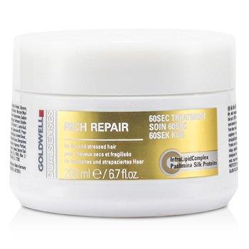 Goldwell Dual Senses Rich Repair 60 Sec Treatment (For Dry, Damaged or Stressed Hair)  200ml/6.7oz