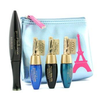 Bourjois-Mascara Set ( Pump Up The Volume Mascara 8ml + 3x Mascara 4ml + Bag )
