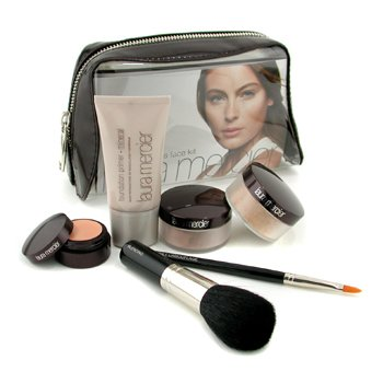 Laura Mercier-Mineral Flawless Face Kit - Natural Beige: Fdt Primer + Mineral Pwd+ Mineral Illuminating Pwd + Concealer + 2x Brush + Bag