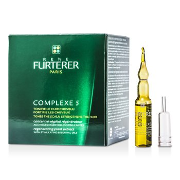 Rene FurtererComplexe 5 Regenerating Plant Extract (Tones the Scalp/ Strengthens the Hair) 12x5ml/0.16oz