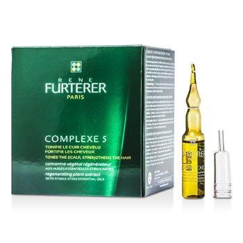 Rene Furterer Complejo Regenerador 5 Extractos de Plantas ( Tonifica el cuero cabelludo y fortalece el cabello )  12x5ml/0.16oz
