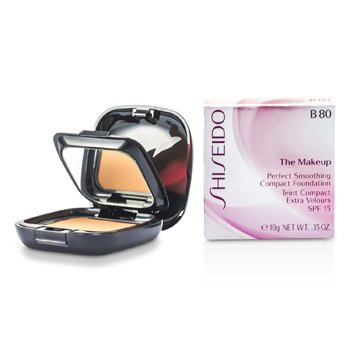 ShiseidoThe Makeup Perfect Smoothing Compact Foundation SPF 15 (Case + Refill) - B80 Deep Beige 10g/0.35oz