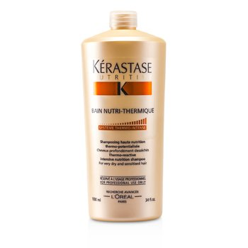 Kerastase Nutritive Bain Nutri-Thermique Thermo-Reactive Champ� Nutriente Intensiva ( Cabellos Muy secos y sensibles )  1000ml/34oz