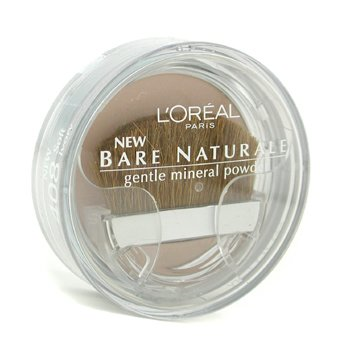 L'Oreal Bare Naturale Gentle Mineral Powder Compact with Brush - No. 408 Soft Ivory  9.5g/0.33oz