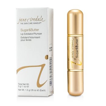 Jane IredaleSugar & Butte Lip Exfoliant/ Plumper - Sugar & Butter 3g/0.1oz