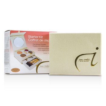 Jane Iredale-Starter Kit - Mahogany ( 2x Pressed Powder + Moisture Tint + Concealer + Blush + Lip Plumper + 3x Brush )