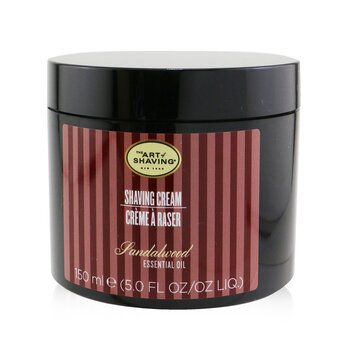 The Art Of Shaving Crema Afeitado - Sandalwood Essential Oil  150g/5.3oz