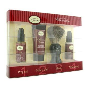 The Art Of ShavingStarter Kit - Sandalwood: Aceite Pre-Afeitado + Crema Afeitado + Brocha + B�lsamo After Shave 4pcs