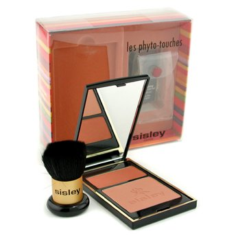 Sisley-Les Phyto Touches de Sisley Sun Glow Pressed Powder with Brush - Duo Miel Cannelle