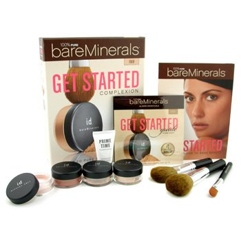 Bare Escentuals-BareMinerals Get Started Complexion Kit - Fair: ( 2xFdn Spf15+Mineral Veil+Face Color+3xBrush+DVD+Prime Time )
