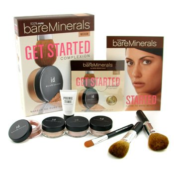 Bare Escentuals-BareMinerals Get Started Complexion Kit - Medium: ( 2xFdn Spf15+Mineral Veil+Face Color+3xBrush+DVD+Prime Time )