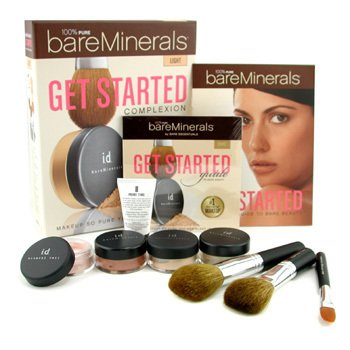 Bare Escentuals-BareMinerals Get Started Complexion Kit - Light: ( 2xFdn Spf15+Mineral Veil+Face Color+3xBrush+DVD+Prime Time )