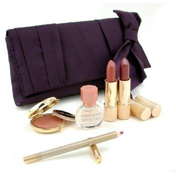 Estee Lauder-Travel Set: Sensuous Minature + Signature Powder + Signature Lipstick + Pure Color Lipstick + Artist