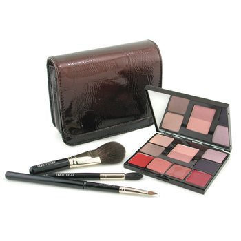 Laura Mercier-Face Palette Collection: 4x Eyeshadow + 1x Cheek Colour Duo + 4x Lip Glazes + 3x Brush + 1x Case