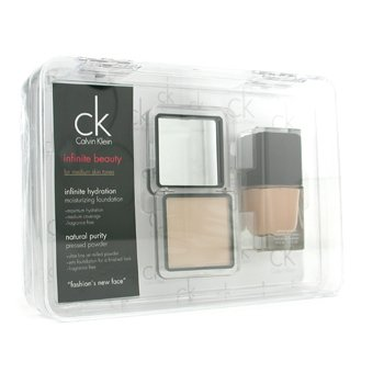 Calvin Klein-Infinite Beauty Set - For Medium Skin Tones ( Foundation # 103, Pressed Powder # 107 )