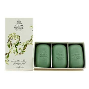 Woods Of WindsorLily Of The Valley Fine Jab�n Ingl�s 3x100g/3.5oz