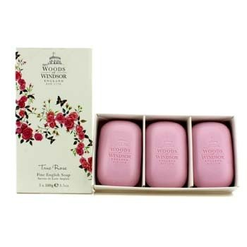 Woods Of WindsorTrue Rose Fine English Soap 3x100g/3.5oz
