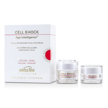 SwisslineCell Shock Age Intelligence Cellular Recovery Dual Eye Cream - Crema Recuperadora Ojos 2pcs