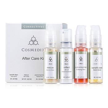 CosMedix After Care Kit: Benefit 10ml/0.3oz + Rescue 10g/0.3oz + Pure Enzymes 10ml/0.3oz + Reflet 10ml/0.3oz  4x10ml/0.3oz